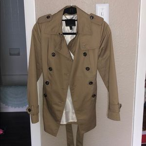 Banana Republic Fitted Short Trench Coat